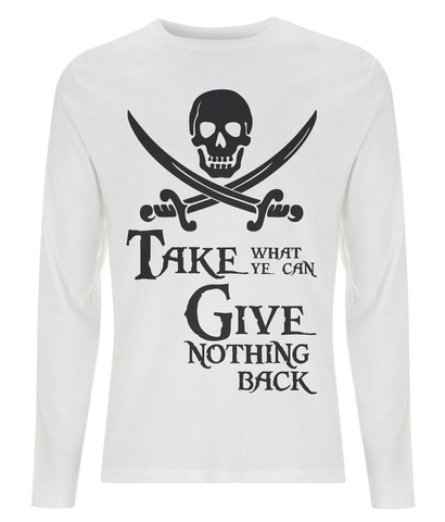 EP01L Men's Long Sleeve T-Shirt P005 Take What Ye Can black