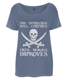 EP46 Women's Tencel Blend Oversized T-Shirt P011a Spankings will Continue