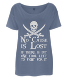 EP46 Women's Tencel Blend Oversized T-Shirt P009 No Cause is Lost