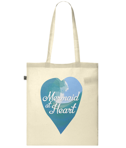 Organic Eco Tote Bag Mermaid at heart