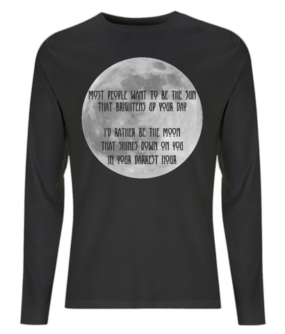 EP01L Organic Eco Men's Long Sleeve Gothic T-Shirt - Most People want to be the Sun