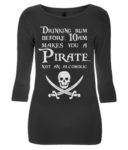 EP07 Women's 3/4 Sleeve Stretch T-Shirt P003 - Drinking Rum