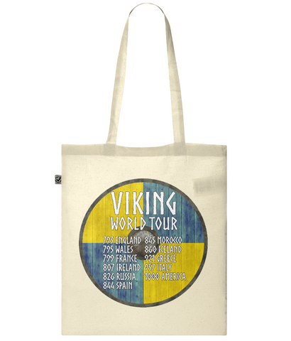 Organic Eco Tote Bag Viking - World Tour
