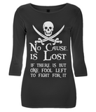 EP07 Women's 3/4 Sleeve Stretch T-Shirt P009 No Cause is Lost