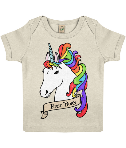 Organic Eco Baby Lap T-shirt Unicorn - First Born