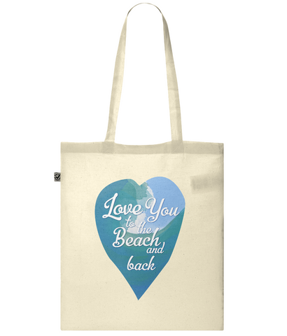 Organic Eco Tote Bag Love you