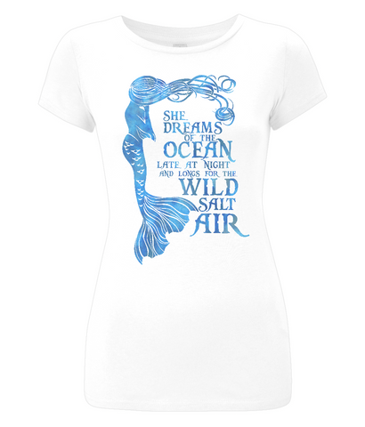 Women's Slim-Fit Jersey T-Shirt - She Dreams of the Ocean