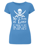 EP04 Women's Slim-Fit Jersey T-Shirt P009 No Cause is Lost