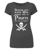 EP04 Women's Slim-Fit Jersey T-Shirt P003 - Drinking Rum