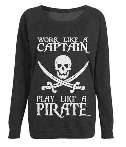 EP66 Women's Raglan Sweatshirt P016 Work like a Captain