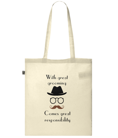 Organic Eco Tote Bag With great grooming man