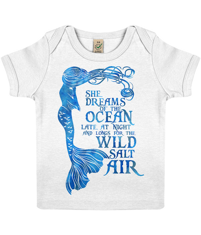 Baby Lap T-shirt - She Dreams of the Ocean