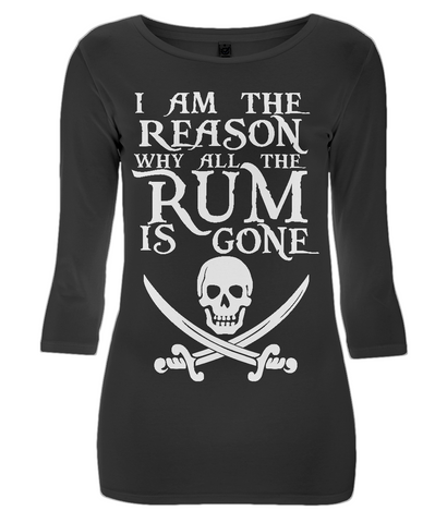 EP07 Women's 3/4 Sleeve Stretch T-Shirt - I am the Reason