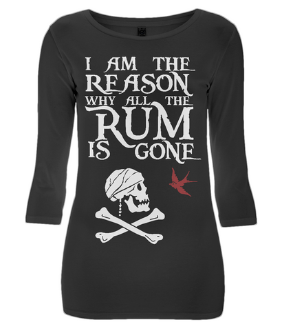 EP07 Women's 3/4 Sleeve Stretch T-Shirt P018a - I am the reason...Jack Sparrow