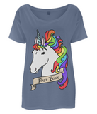 Organic Eco Women's Oversized T-Shirt Unicorn - First Born