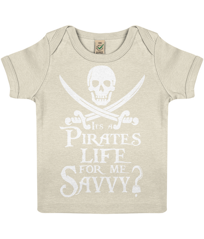 EPB01 Baby Lap T-shirt P007 A Pirates Life for me