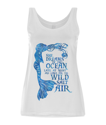 Women's Tencel Blend Vest - She Dreams of the Ocean