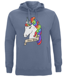 Organic Eco Unisex Pullover Hoodie Unicorn - First Born
