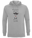 "EP60P Organic Cotton Eco clothing - ""It's not where you're from, it's wear your hat"" Organic Eco Melange Grey Hoodie"