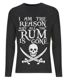 EP01L Organic Eco Men's Long Sleeve Pirate T-Shirt - I am the Reason