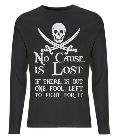 EP01L Men's Long Sleeve T-Shirt P009 No Cause is Lost