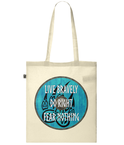 Organic Eco Tote Bag Viking - Live Bravely