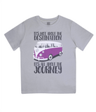 "EPJ01 Organic Combed Cotton Children's T-Shirt in Melange Grey, contains the quote  ""It's not about the destination. It's all about the Journey"""