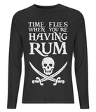 EP01L Men's Long Sleeve T-Shirt P020 Time FLies