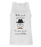 "EP07 ""With great grooming comes great responsibility"" Organic Eco Men's Vest"
