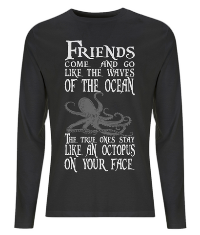 EP01L Men's Long Sleeve T-Shirt P021 Octopus on your Face