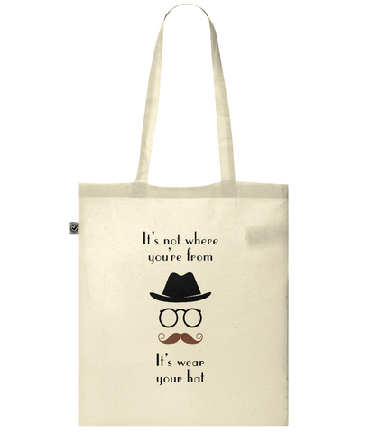 Organic Eco Tote Bag Wear your hat man