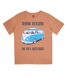 "EPJ01 Organic Combed Cotton Children's T-Shirt in Orange, contains the quote  ""Think Outside, No Box Required"""