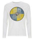 "EP01L Organic Eco Men's Long Sleeve white Viking T-Shirt ""World Tour"""