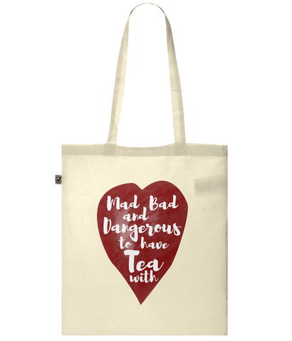Organic Eco Tote Bag Mad bad tea