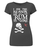 EP04 Women's Slim-Fit Jersey T-Shirt P018a - I am the reason...Jack Sparrow
