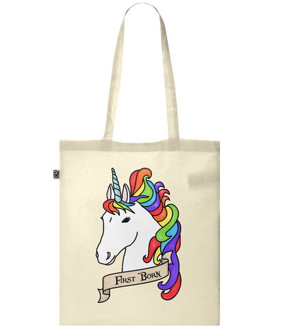 Organic Eco Tote Bag Unicorn - First Born