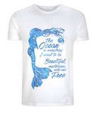 Organic Eco Unisex Mermaid T-Shirt - The Ocean is Everything