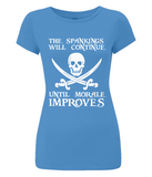 EP04 Women's Slim-Fit Jersey T-Shirt P011a Spankings will Continue
