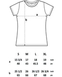 Size Chart for EP04 Organic Eco Women's Slim-Fit T-Shirt