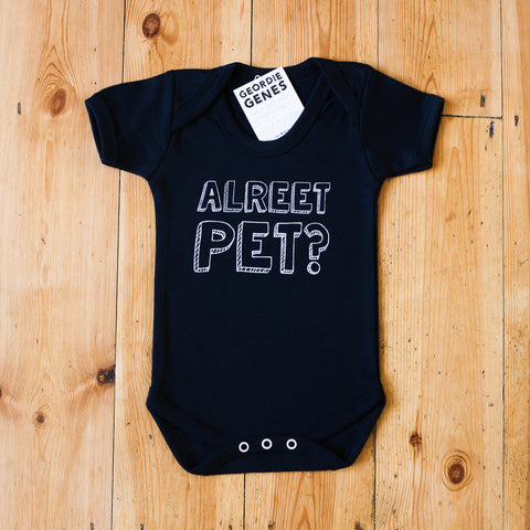 'Alreet Pet' Baby Bodysuit in Black