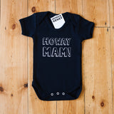 'Howay Mam' Baby Bodysuit in Black
