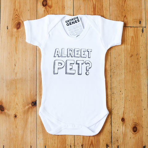 'Alreet Pet' Baby Bodysuit in White