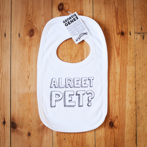 'Alreet Pet' Bib in White
