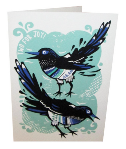 Two For Joy Magpie Card