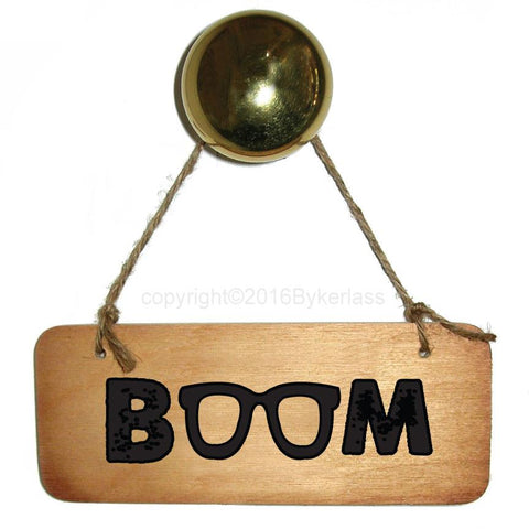 Boom! Scouse Wooden Sign