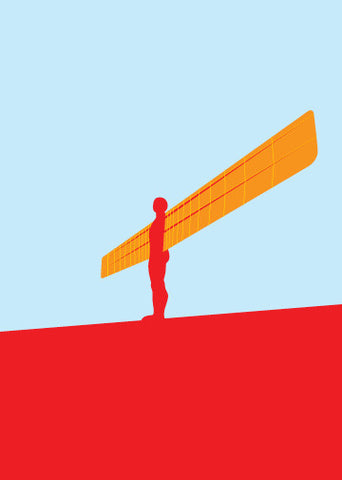 Angel of the North framed mini-print