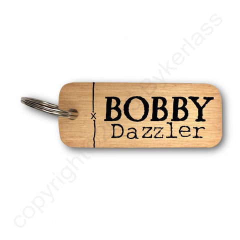Bobby Dazzler Yorkshire Rustic Wooden Keyring