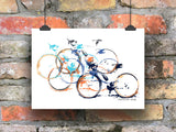 Caffeine Stop Cycling Print