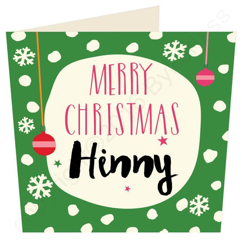 Merry Christmas GEORDIE PHRASES Hinny / Marra etc Christmas card