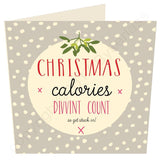Christmas Calories Divvint Count Christmas Card by Wotmalike